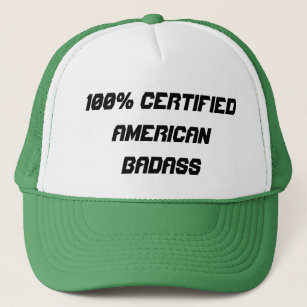 100% Certified American Badass Trucker Hat f652789553a4