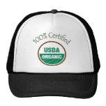 100% Certified USDA Organic Baseball Cap Trucker Hat