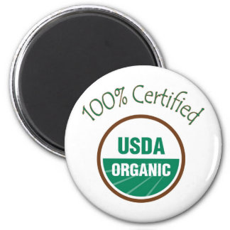 100% Certified USDA Organic Refrigerator Magnet