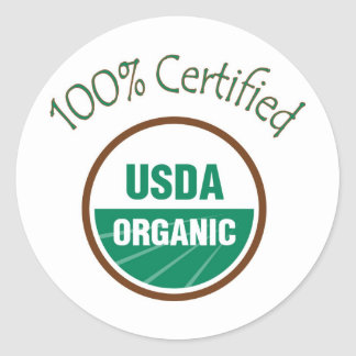 100% Certified USDA Organic Stickers