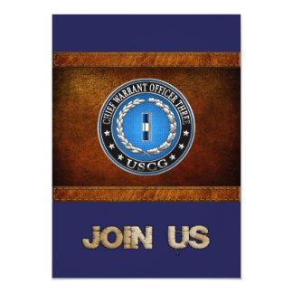 [100] CG: Chief Warrant Officer 3 (CWO3) 5x7 Paper Invitation Card