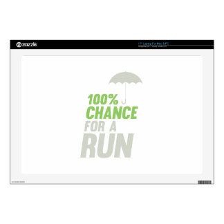 """100% Chance of Run Decals For 17"""" Laptops"""