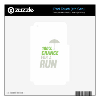 100% Chance of Run iPod Touch 4G Decals