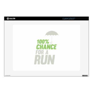 100% Chance of Run Laptop Skin