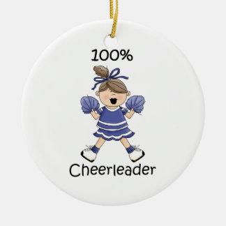 100% Cheerleader - Brunette Ceramic Ornament