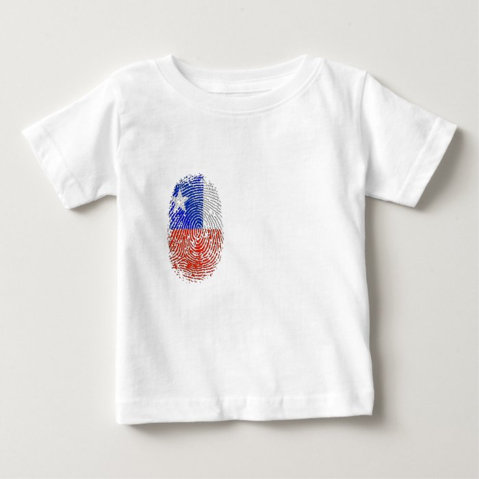 100% Chilean DNA fingerprint flag of Chile Baby T-Shirt