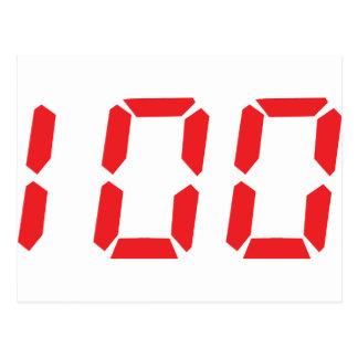 100 cientos números digitales del despertador del  postales