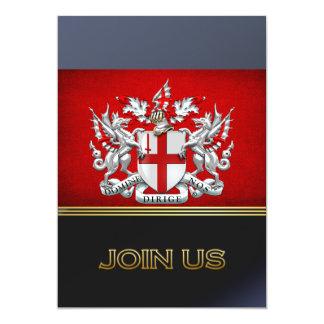[100] Ciudad de Londres - escudo de armas Invitación 12,7 X 17,8 Cm