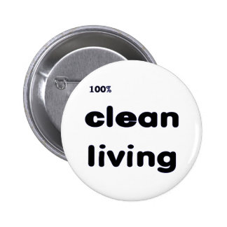 100% Clean Living Button