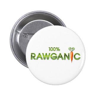 100% comida cruda de Rawganic - zanahoria Pin Redondo De 2 Pulgadas
