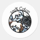 100% Coton de Tulear Classic Round Sticker