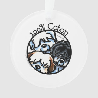 100% Coton de Tulear Ornament