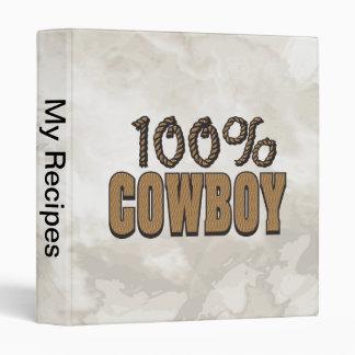 100% Cowboy 3 Ring Binder