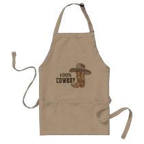 100% Cowboy Adult Apron