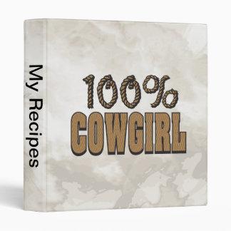 100% Cowgirl 3 Ring Binder