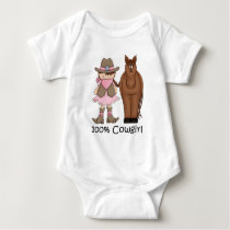 100% Cowgirl and Horse Infant Creeper