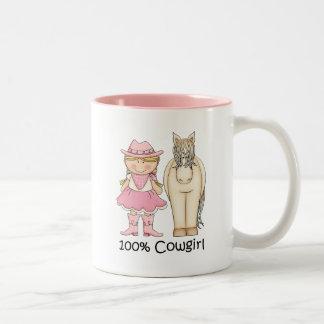 100% Cowgirl - Cute Blond Two-Tone Coffee Mug