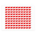 100 Cows - Red Post Card
