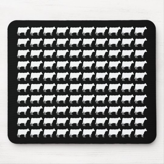 100 Cows - White Mouse Pad
