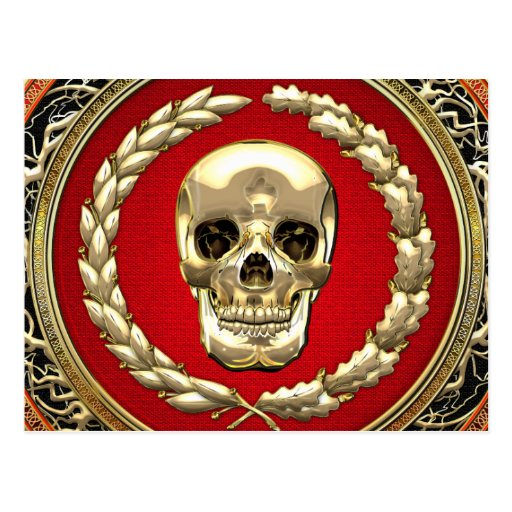 [100] Cráneo de oro Postal