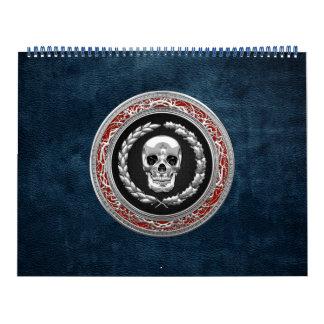 [100] Cráneo de plata Calendario De Pared