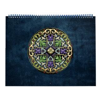 [100] Cruz céltica [oro con el esmalte negro] Calendario