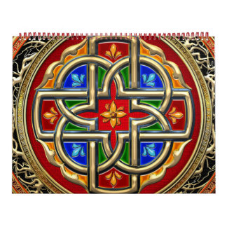[100] Cruz céltica [oro+Esmalte] Calendarios