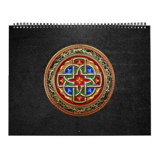 [100] Cruz céltica [oro+Esmalte] Calendario