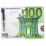 100 cuentas euro pizarra
