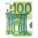100 cuentas euro plantilla de membrete