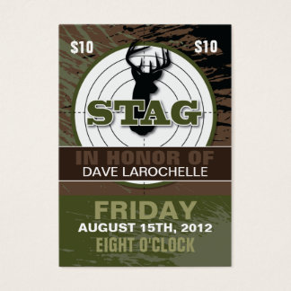 Hunting business cards templates zazzle for Stag tickets template