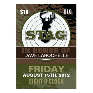 100 Customizable Bachelor Stag Tickets Business Card