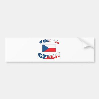 100% Czech Bumper Sticker