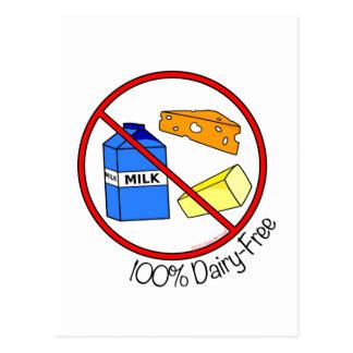 100% Dairy Free Postcard
