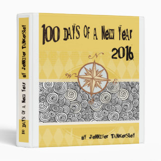 100 Days of a New Year 2016 3 Ring Binder