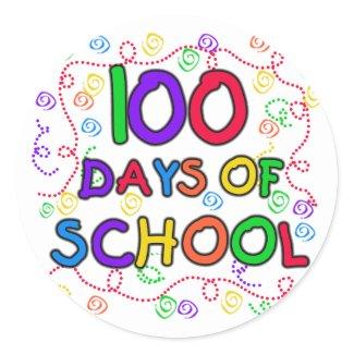 100 Days of School Confetti sticker