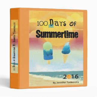 100 Days of Summertime 2016 Binder