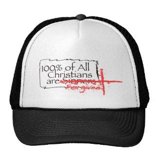 100% del casquillo del logotipo de los cristianos gorras de camionero