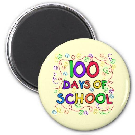 100 días de camisetas y de regalos del confeti de  imán redondo 5 cm