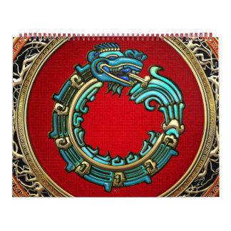 100 Dios Quetzalcoatl jade de la serpiente Calendarios De Pared