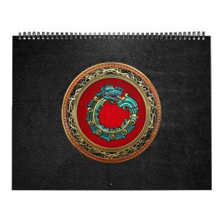100 Dios Quetzalcoatl jade de la serpiente Calendarios