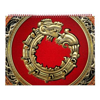 100 Dios Quetzalcoatl oro de la serpiente Calendarios De Pared