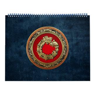 100 Dios Quetzalcoatl oro de la serpiente Calendarios