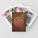[100] Dios Quetzalcoatl [oro] de la serpiente Baraja Cartas De Poker