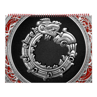 100 Dios Quetzalcoatl plata de la serpiente Calendarios
