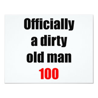 100  Dirty Old Man Card