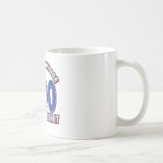 100 diseños años divertidos taza básica blanca
