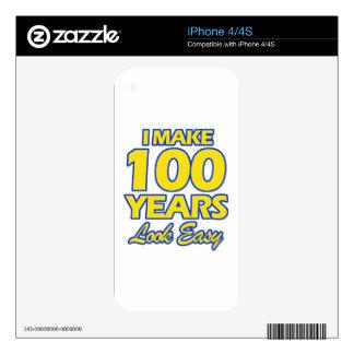100 DISEÑOS DEL CUMPLEAÑOS DE LOS AÑOS CALCOMANÍAS PARA iPhone 4S