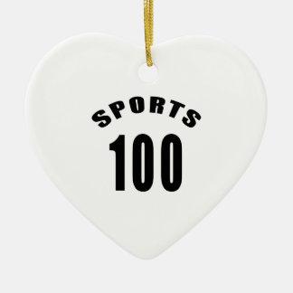 100 diseños del cumpleaños de los deportes adorno de navidad
