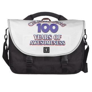 100 diseños del regalo del año bolsas de portátil